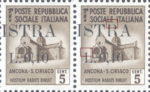 Provisional postage stamp issue for Pula overprint flaw: Letter R in ISTRA open on top and missing left serifs