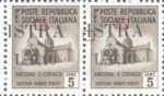 Provisional postage stamp issue for Pula overprint flaw: Letter R in ISTRA missing top left serif
