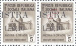 Provisional postage stamp issue for Pula overprint flaw: Letter T in ISTRA without base