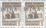 Provisional postage stamp issue for Pula overprint flaw: Letter R in ISTRA without top left serif, corner angular