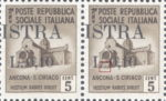 Provisional postage stamp issue for Pula overprint flaw: Small dot after letter L