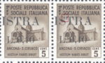 Provisional postage stamp issue for Pula overprint flaw: Top serif of letter S in ISTRA damaged