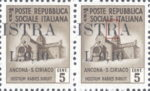 Provisional postage stamp issue for Pula overprint flaw: Letter R in ISTRA split vertically