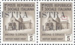 Provisional postage stamp issue for Pula overprint flaw: Bottom right serif of letter A in ISTRA missing to the left