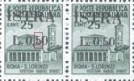 Provisional postage stamp issue for Pula overprint flaw: Horizontal line in numeral 5 shorter
