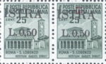 Provisional postage stamp issue for Pula overprint flaw: Top left serif of letter R in ISTRA missing