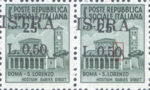 Provisional postage stamp issue for Pula overprint flaw: Second zero in denomination distorted