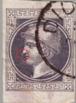 Austria 1867: newspaper stamp error Mercury Small spot in front of the nose