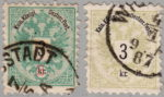 Austria Empire 1883 Doppeladler stamp flaw Leter k in kr. without serifs on top