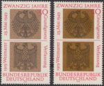 Germany 1969 postage stamp double impression