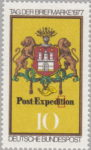 Germany postage stamp error: Dot in letter t in Expedition