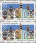 Germany Bas Hersfeld postage stamp plate flaw Numeral 6 in 1986 broken