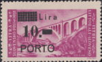 Slovene Littoral postage due stamp types regular P in PORTO