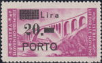 Slovene Littoral postage due stamp types prolonged R in PORTO