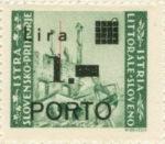 Slovene Littoral postage due stamp 1 lira subtype 1