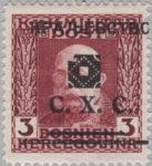 Yugoslavia Bosnia Herzegovina postage stamp overprint error damaged mask