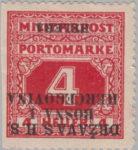 SHS Bosnia Herzegovina postage stamp inverted overprint