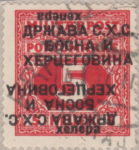 Yugoslavia Bosnia Herzegovina postage stamp double inverted overprint error