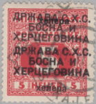 Yugoslavia Bosnia Herzegovina postage stamp double overprint error