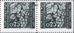 Slovene Littoral postage stamp flaw Big color smudge touching the right frame of the 3rd stamp in a sheet.