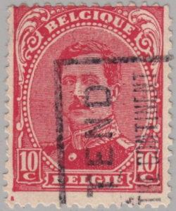 Belgium King Albert postage stamp type 1