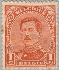 Belgium King Albert postage stamp type 2