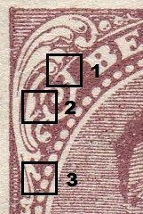 Belgium 1915 postage stamp types