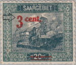 Germany Saargebiet scenery postage stamp overprint error
