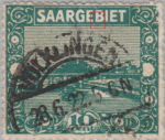 Germany Saargebiet scenery postage stamp color dot in the second vertical stroke of letter B