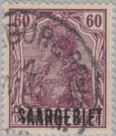 Germany Saargebiet stamp Lower stroke of letter S in SAARGEBIET missing