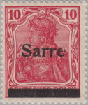 Germany Sarre postage stamp type Q 1 overprint