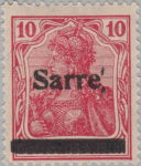 Germany Sarre stamp traces of printing block overprint error