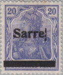 Germany Sarre stamp printing block overprint error
