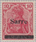 Germany Sarre postage stamp overprint type 2