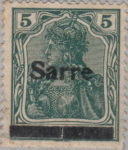 Sarre Germany Type II A overprint