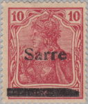 Germany Sarre postage stamp Type III V overprint