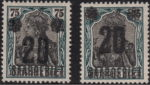 Germany Saargebiet stamp shifted overprint error