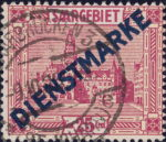 Germany Saargebiet official stamp overprint type 1
