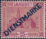 Germany Saargebiet official stamp type 2