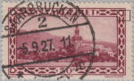 Germany Saargebiet scenery postage stamp plate flaw: circle