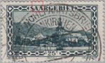 Germany Saargebiet postage stamp error Colored dot between two letters A in SAARGEBIET