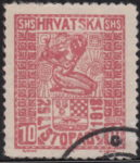 SHS Hrvatska 29 Listopada 1918 10 filler even column