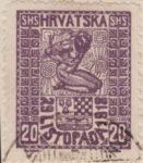 SHS Hrvatska 29 Listopada 1918 20 filler even column