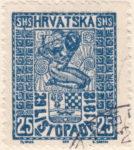 SHS Hrvatska 29 Listopada 1918 25 filler even column