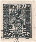 SHS Hrvatska 29 Listopada 1918 - 45 filler odd column
