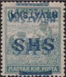 Croatia 1918 6 filler, inverted double overprint