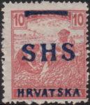 Croatia 1918 10 filler overprint