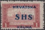 SHS Croatia 1918 vertical line after S in SHS