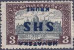 Postage stamp SHS Croatia inverted overprint