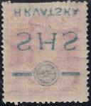 Croatia 1918 overprint error offset